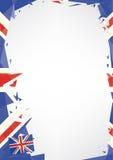 英国的水平的海报origami 库存照片