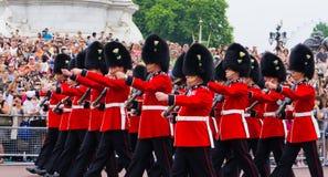 英国皇家卫兵的荣誉称号 免版税图库摄影
