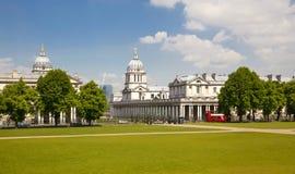 英国皇家海军拼贴画和经典之作colonnaden 库存图片