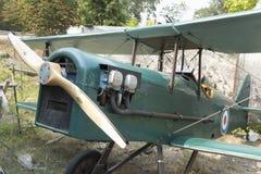 英国皇家空军双翼飞机的SE5复制品的引擎 库存照片