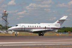 英国皇家空军皇家空军英国宇航HS-125 CC3 ZD621由没有经营 32皇家分谴舰队,在皇家空军诺索尔特 免版税图库摄影