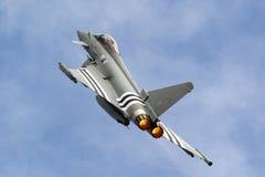 英国皇家空军皇家空军Eurofighter EF-2000台风从没有的FGR4 ZK308 29R分谴舰队根据在皇家空军Coningsby 图库摄影