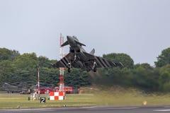 英国皇家空军皇家空军Eurofighter EF-2000台风从没有的FGR4 ZK308 29R分谴舰队根据在皇家空军Coningsby 免版税库存照片