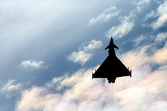 英国皇家空军皇家空军Eurofighter EF-2000台风从没有的FGR4 ZK343 29R分谴舰队根据在皇家空军Coningsby 免版税库存照片