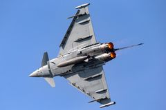 英国皇家空军皇家空军Eurofighter EF-2000台风从没有的FGR4 ZK343 29R分谴舰队根据在皇家空军Coningsby 库存图片