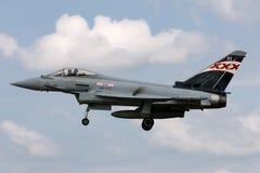 英国皇家空军皇家空军Eurofighter EF-2000台风FGR 从没有的4个ZK343 29R分谴舰队根据在皇家空军Coningsby 库存图片
