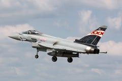 英国皇家空军皇家空军Eurofighter EF-2000台风FGR 从没有的4个ZK343 29R分谴舰队根据在皇家空军Coningsby 库存照片