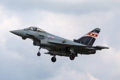 英国皇家空军皇家空军Eurofighter EF-2000台风FGR 从没有的4个ZK343 29R分谴舰队根据在皇家空军Coningsby 免版税库存照片