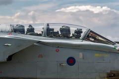 英国皇家空军皇家空军Panavia龙卷风GR4 XV R分谴舰队ZA606根据在皇家空军Lossiemouth 免版税图库摄影