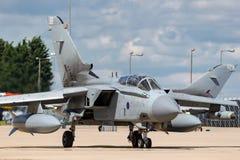 英国皇家空军皇家空军Panavia龙卷风GR4 XV R分谴舰队ZA606根据在皇家空军Lossiemouth 库存照片
