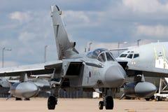 英国皇家空军皇家空军Panavia龙卷风GR4 XV R分谴舰队ZA606根据在皇家空军Lossiemouth 图库摄影