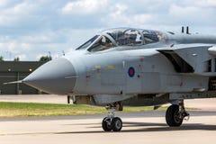 英国皇家空军皇家空军Panavia龙卷风GR4 XV R分谴舰队ZA606根据在皇家空军Lossiemouth 库存图片