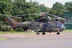英国皇家空军美洲狮货运直升机 库存照片
