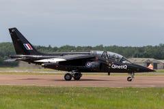 英国皇家空军达萨尔道尼尔阿尔法喷气机A ZJ647由QinetiQ经营 库存照片