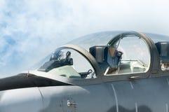 英国皇家空军顶头F-16战斗机飞机  免版税库存图片
