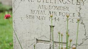 英国皇家空军WWII坟墓 影视素材