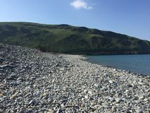 英国石海滩 图库摄影