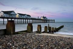 英国码头 免版税库存照片