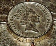 英国硬币镑 免版税库存图片