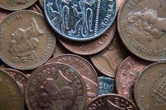 英国硬币 库存照片