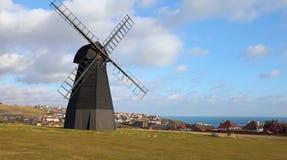 英国磨房老城镇风车 免版税库存照片