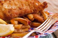 英国筹码鱼 免版税库存图片