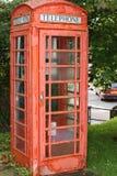 英国红色电话箱子 库存图片
