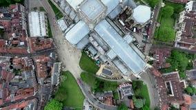 英国约克夏约克英国哥特式样式大教堂Metropolitical教会圣彼得或约克座堂 股票录像