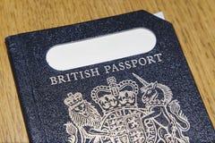 英国老护照 库存照片
