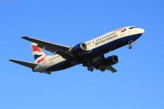 英国航空公司波音737 库存图片