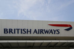 英国航空公司终端7在约翰・肯尼迪国际机场在纽约 库存图片
