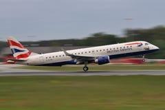 英国航空公司巴西航空工业公司 免版税库存图片
