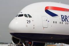 英国航空公司A380在巴黎Airshow 免版税库存照片