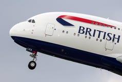 英国航空公司A380 F-WWSK 库存图片