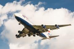 英国航空波音747 库存图片