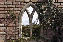 英国花园大门 免版税库存照片