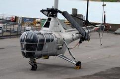 英国英国皇家海军韦斯特兰HR5 WG-751蜻蜓战斗直升机 图库摄影