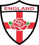 英国英语玫瑰色盾 免版税图库摄影