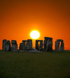 英国著名stonehenge 图库摄影