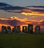 英国著名stonehenge 免版税库存图片