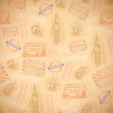 英国葡萄酒减速火箭的背景 免版税库存照片