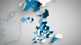 英国蓝色和白色 向量例证
