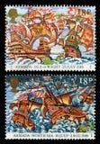 英国西班牙舰队邮票 免版税图库摄影