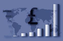 英国财务的succes 皇族释放例证