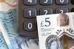 英国货币-五磅笔记 免版税图库摄影