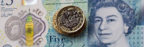 英国货币2017年 免版税库存照片