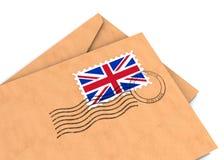 英国过帐 库存图片