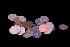 英国造币-零钱 免版税图库摄影