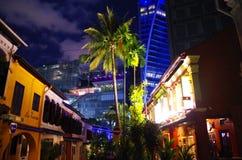 英国遗产在市中心在夜之前 免版税库存照片