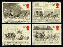 英国邮件马车邮票 免版税库存图片